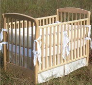 Natural on White Organic Cotton Crib Bedding + Blankets ($49- $194)