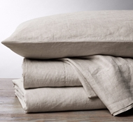 Coyuchi Organic Linen Chambray Sheet Set in Natural Chambray