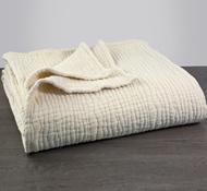 Coyuchi Organic Cotton Wave Matelasse Baby Blanket in Natural