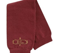 Organic Cotton Leg and Arm Warmers: Cranberry