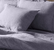 Coyuchi Organic Linen Chambray Pillowcases and Shams in Blue Chambray