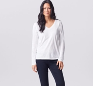 Coyuchi Essential Organic Cotton Long Sleeve Shirt - Alpine White