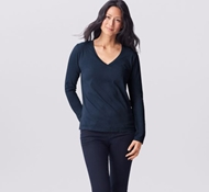 Coyuchi Essential Organic Cotton Long Sleeve Shirt - Midnight