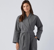 Coyuchi Unisex Cloud Brushed Organic Flannel Robe
