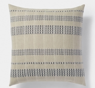 Coyuchi Amador Organic Cotton Pillow Cover - Neutral with Charcoal