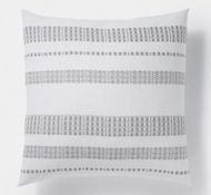 Coyuchi Amador Organic Cotton Pillow Cover - White with Gray