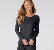 Organic Cotton Women's Solstice Long Sleeve T-Shirt - Deep Graphite