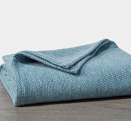 Coyuchi Sequoia Organic Cotton and Wool Blanket - Aqua