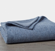 Coyuchi Sequoia Organic Cotton and Wool Blanket - Blue