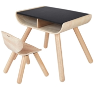 Plan Table & Chair - Black
