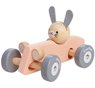 Plan Toys Eco-Friendly Bunny Racing Car