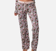 Women's Bamboo Pajama Pants - Blush Floral