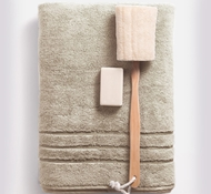 Bamboo Bath Towels - Stone