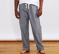Men's Striped Organic Crinkled Pajama Pant - Indigo Stripe