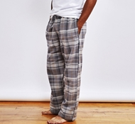 Men's Cloud Brushed Organic Flannel Pajama Pant - Mid Gray Plaid