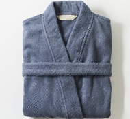 Unisex Air Weight Organic Robe - French Blue