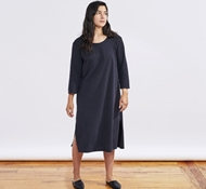 Women's Solstice Organic Nightgown - Deep Graphite