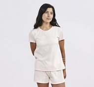 Women's Solstice Organic Short Sleeved Crew - Blush