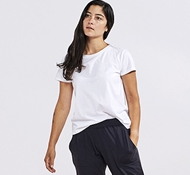 Women's Solstice Organic Short Sleeved Crew - Alpine White