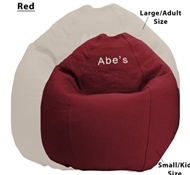Adult Size Traditional Round Comfy Bean Bag Lounger - Cotton Cover - Eco Superfill