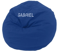 Kid's Traditional Round Comfy Bean Bag Chair - Cotton Cover - Eco Superfill