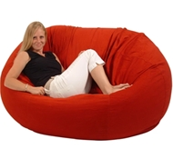 Extra Large Comfy Bean Loveseat - Cotton Cover - Eco Superfill