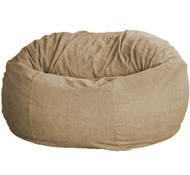 Extra Large Comfy Bean Loveseat - Hemp Cover - Eco Superfill