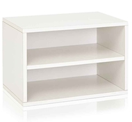 Divider Blox Eco Friendly Storage and Stackable Shelving, White