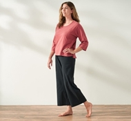 Women's Organic Wide Leg Crop Pants