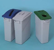 Paper Recycling Top for Slim Jim Containers by Rubbermaid