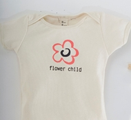 Flower Child Natural Short-Sleeved Kids Tee Shirt