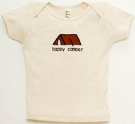 Happy Camper Natural Short-Sleeved Baby Tee Shirt