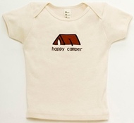 Happy Camper Natural Short-Sleeved Kids Tee Shirt