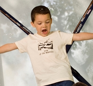 King of the Mountain Natural Short-Sleeved Kids Tee Shirt