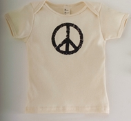 Vintage Peace Natural Baby Short-Sleeved Tee Shirt