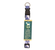 Recycled Dog Collar in Marine Madras ($7.95 - $8.95)