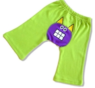 Little Monster Collection Green Organic Cotton Baby Pants (6-12 mo)