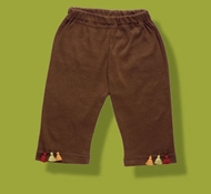 Kabuki Organic Cotton Baby Pants in Chocolate Brown (6-12 mo)