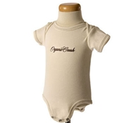 Embroidered Short Sleeve Ribbed Baby Bodysuit in Spice Brown