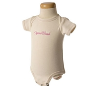 Embroidered Short Sleeve Ribbed Baby Bodysuit in Blossom Pink