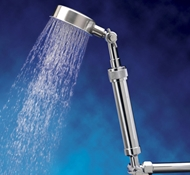 Chrome ShowerUp Filtered Single Extension with Sunflower Shower Head