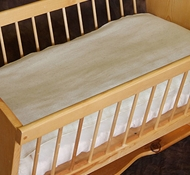 Holy Lamb Organics Natural Wool Crib Moisture Barrier Mattress Pad