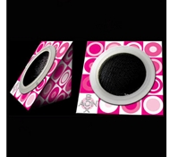 "AON BOX ""Haute Pink"" Collapsible Portable Green Speakers"